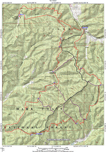 Berryman Trail Map